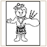 Bagpiper Coloring Page
