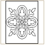 Medieval-Pattern-07 Coloring Page