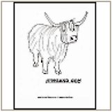 Heilan Coo Coloring Page