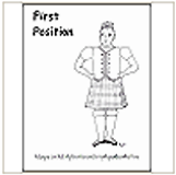 1st Highland Dance Position Coloring Page