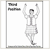 3rd Highland Dance Position Coloring Page