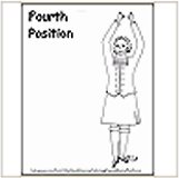 4th Highland Dance Position Coloring Page
