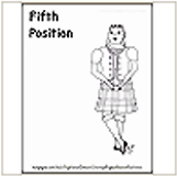 5th Highland Dance Position Coloring Page