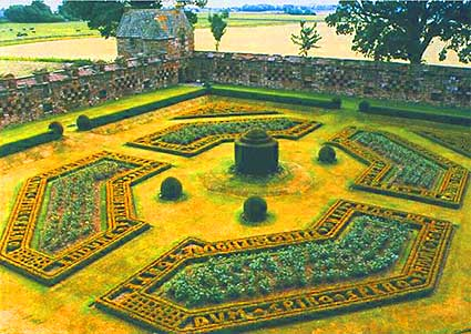 Photo of the Formal Gardens at Edzell Castle